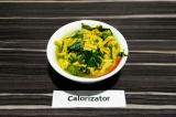 Готовое блюдо: подливка из шпината и тофу
