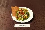 Готовое блюдо: легкий салат с красной рыбой ПП