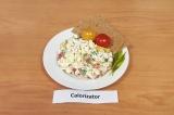 Готовое блюдо: белковый салат с крабовым мясом
