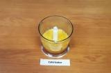 Шаг 1. Мандарины очистить, смолоть в чаше блендера.