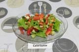 Свежий салат с киви
