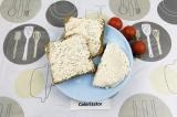 Готовое блюдо: сливочный сыр с паприкой и зеленью