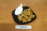 Готовое блюдо: цветная капуста в сырной панировке