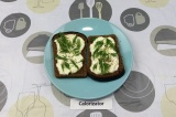 Готовое блюдо: бутерброды с яйцом и йогуртом