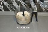 Шаг 3. Смешать сухие ингредиенты, воду и тофу. Скатать шар и оставить на 10 мину