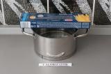 Шаг 2. Отварить спагетти аль денте в 600 мл воды.