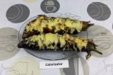 Готовое блюдо: баклажан с помидорами и моцареллой
