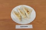 Готовое блюдо: конвертики из лаваша с яблоком