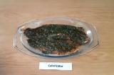 Шаг 3. С помощью кулинарной кисти обильно смазать рыбу полученной смесью и остав
