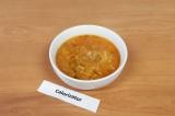 Готовое блюдо: диетический суп с фаршем и капустой