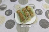 Готовое блюдо: спринг-роллы с курицей и грибами