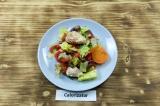 Готовое блюдо: салат с курицей в духовке