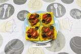 Готовое блюдо: полента с томатами