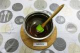 Шаг 7. Шоколад растопить на водяной бане.