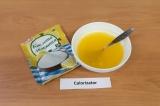 Шаг 3. Добавить желатин к апельсиновому соку, добавить лимонную кислоту и сахаро