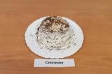 Шаг 17. Посыпать торт оставшимся шоколадом, украсить арахисом, поставить в холод