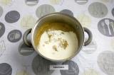 Шаг 8. Пюрировать суп блендером, добавить сливки и оставшуюся воду и еще раз