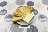 Готовое блюдо: классические блинчики на молоке
