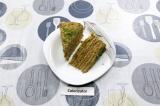 Готовое блюдо: блинный торт с печенью