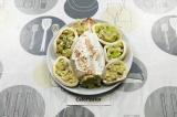 Готовое блюдо: кальмар фаршированный грибами