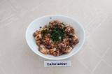 Готовое блюдо: куриное филе с гречкой