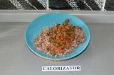 Готовое блюдо: гречка с грибами
