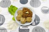 Готовое блюдо: кнедли мясные паровые с гарниром