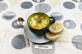 Готовое блюдо: чудо-суп куриный с яичной лапшой