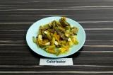 Готовое блюдо: теплый печеночный салат