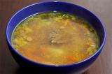 Готовое блюдо: гречневый суп с говядиной