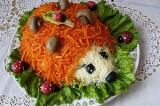 Готовое блюдо: салат Ёжик