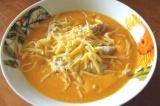 Готовое блюдо: суп-пюре из тыквы с курицей
