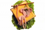 Готовое блюдо: бутерброд Обезьянка