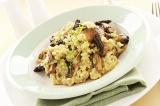 Готовое блюдо: ризотто с грибами