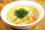 Готовое блюдо: пикантный овощной суп