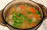 Готовое блюдо: суп с фрикадельками