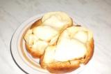 Готовое блюдо: яблочные тартинки