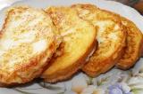 Готовое блюдо: сладкие тосты