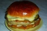 Готовое блюдо: гамбургер вегетарианский