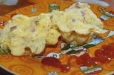 Готовое блюдо: горячий сыр с ветчиной