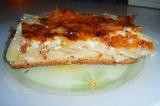 Готовое блюдо: луково-капустный пирог