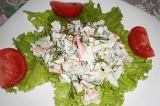Готовое блюдо: витаминный салат с яблоком