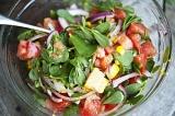Готовое блюдо: салат овощной с портулаком
