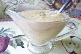 Готовое блюдо: соус  луково-грибной