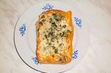 Готовое блюдо: бутерброд с морковью