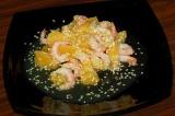 Готовое блюдо: салат креветки с апельсином