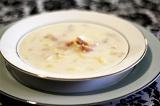Готовое блюдо: суп с моллюсками
