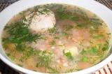 Готовое блюдо: суп куриный с гречкой