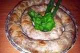 Готовое блюдо: домашняя колбаса