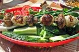 Готовое блюдо: шашлык грибной